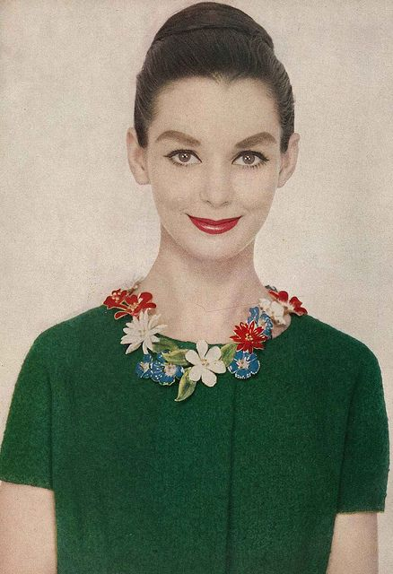 17_harper's bazaar, february 1958 by richard avedon. susan strasberg wears enameled flowers by sandor goldberger..jpg