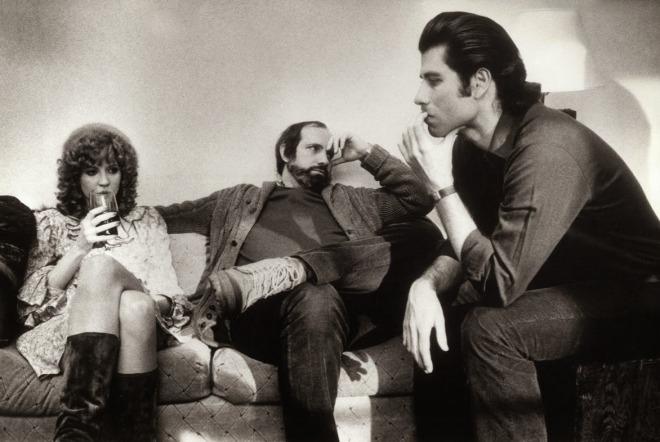 17_Nancy Allen, Brian De Palma, and John Travolta on the set of Blow Out, 1981.jpg