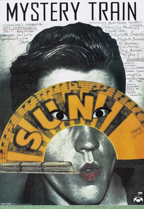 """19_""""Mystery Train"""" polish poster by Andrzej Klimowski..jpg"""