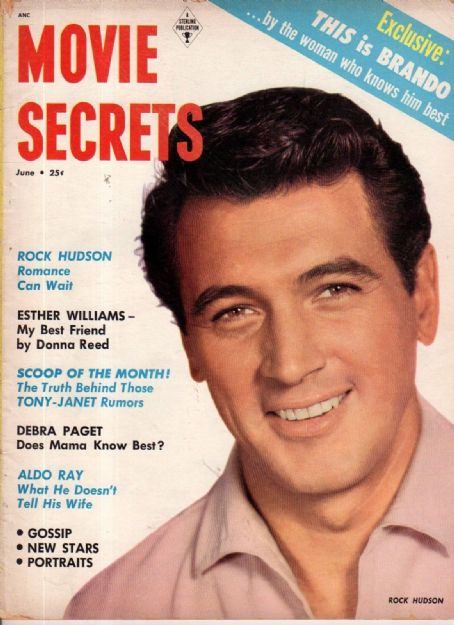 "1_Rock Hudson on the cover of ""Movie Secrets"" magazine, USA, June 1955..jpg"