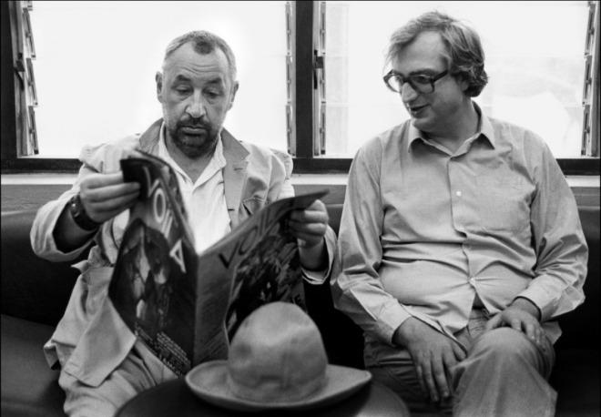 6_Philippe Noiret & Bertrand Tavernier by Mary Ellen Mark, on the set of Coup de Torchon, 1980.jpg