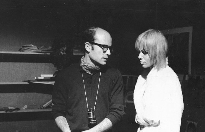 7_Anita Pallenberg and Volker Schlöndorff, On the set of Degree of Murder, 1967..jpg