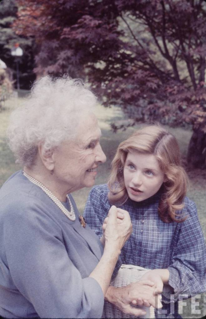 8_The aged Hellen Keller and the girl (Patty Duke) who portrayed her in the 1962 film 'The Miracle Worker' .jpg