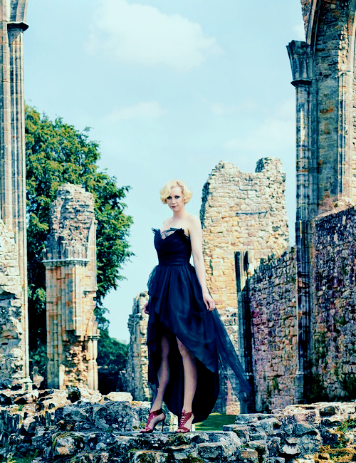 Gwendoline Christie by Trent McGinnHarper_s Bazaar December 2014