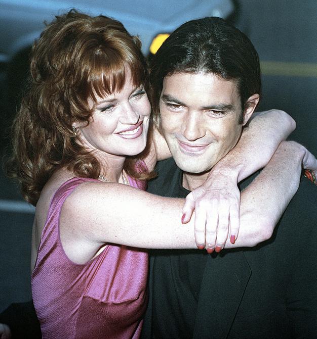 1_Melanie Griffith and Antonio Banderas lors de la première de Desperado, à Los Angeles, le 21 août 1995.