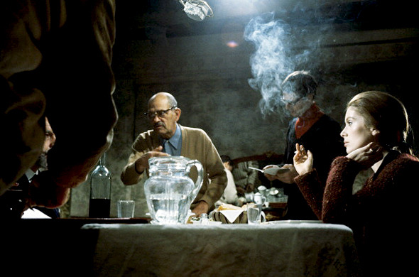 Catherine Deneuve and Luis Bunuel photographed by Philippe Letellier on the set of the film 'Tristana', 1969-1.jpg