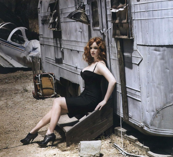 Christina Hendricks, photographed by Sheryl Nields for Esquire, September 2009-2