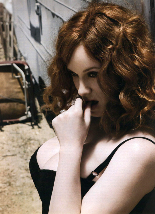 Christina Hendricks, photographed by Sheryl Nields for Esquire, September 2009