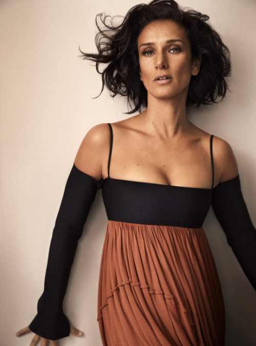 Indira Varma photographed by Alex Bramall for Harper_s Bazaar India