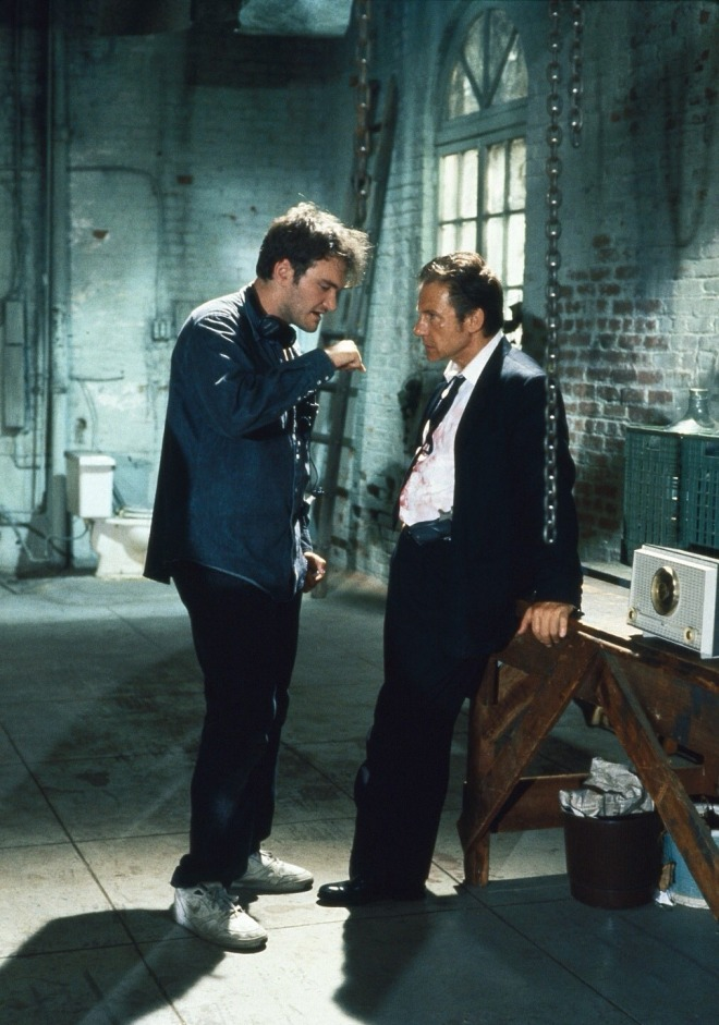 23Quentin Tarantino and Harvey Keitel on the set of Reservoir Dogs.jpg