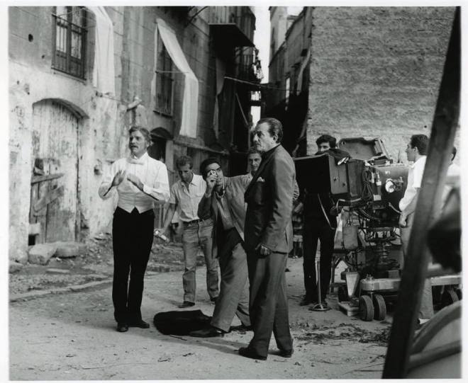 24_Burt Lancaster and Luchino Visconti on the set of Il Gattopardo (1963).jpg