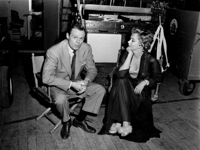29_Marilyn Monroe and Richard Widmark on the set of Don't Bother To Knock..jpg