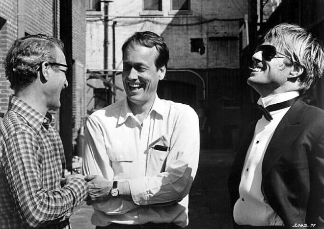 31_Paul Newman, Director George Roy Hill and Robert Redford on the set of The Sting..jpg