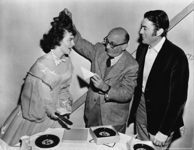 4_Gregory Peck, Ava Gardner and Robert Siodmak behind the scenes of The Great Sinner..jpg
