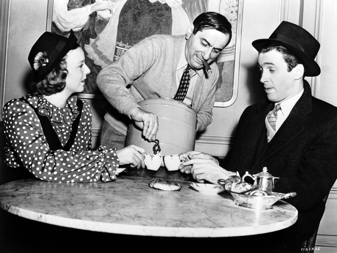 1_Ernst Lubitsch with Margaret Sullavan and Jimmy Stewart on the set of THE SHOP AROUND THE CORNER (_40)-1