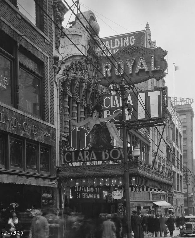 30_Clara Bow It! Movie Marquee ; Royal Theater, Kansas City, 1927.jpg