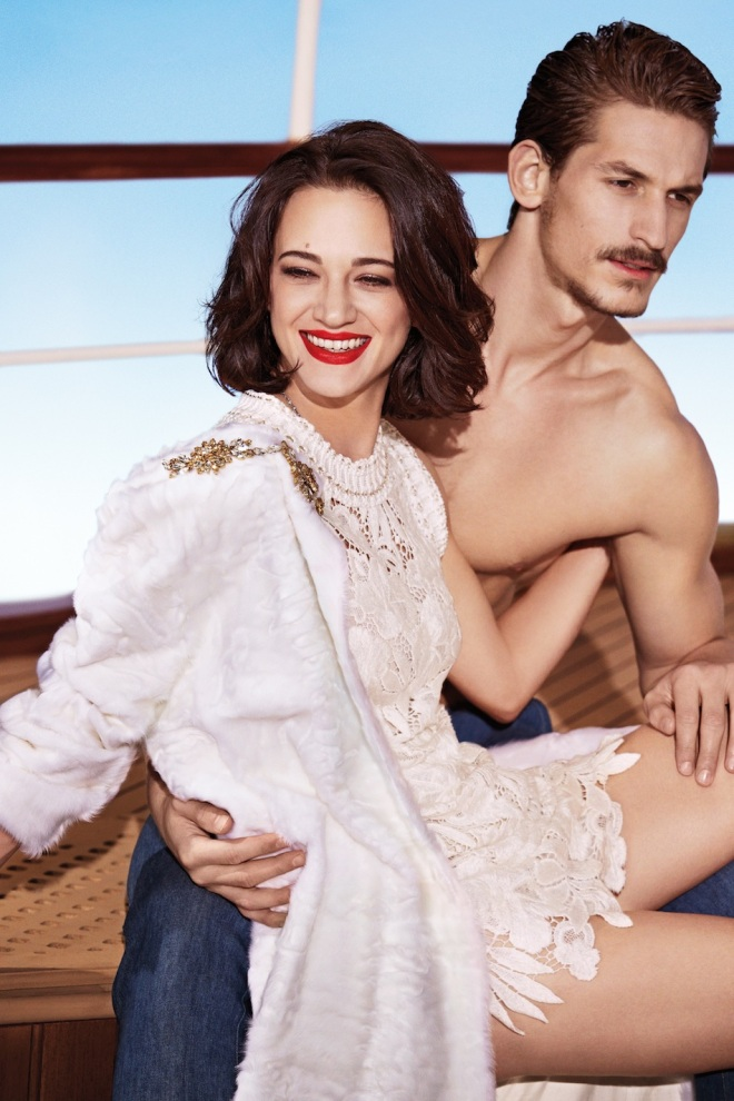 5_Ermanno Scervino's SpringSummer advertising campaign continues with Asia Argento photography by Francesco Carrozzini. (2014)