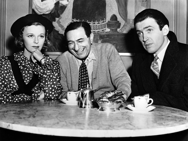 Ernst Lubitsch with Margaret Sullavan and Jimmy Stewart on the set of THE SHOP AROUND THE CORNER (_40)-2