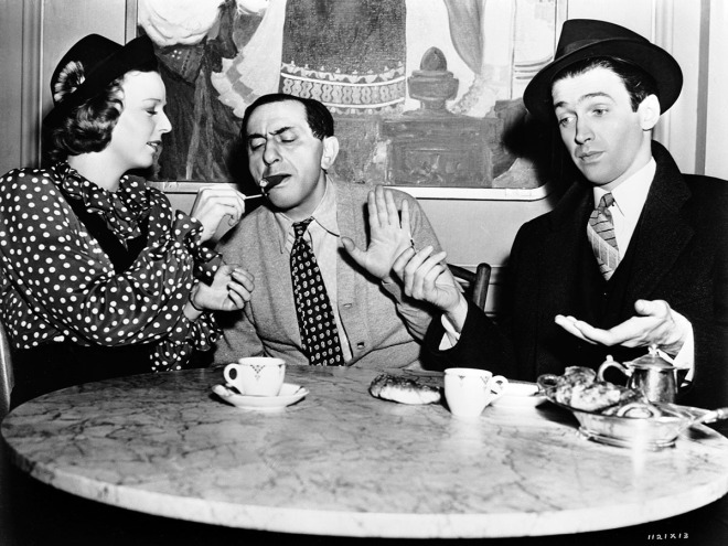 Ernst Lubitsch with Margaret Sullavan and Jimmy Stewart on the set of THE SHOP AROUND THE CORNER (_40)-3