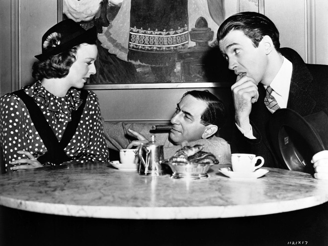 Ernst Lubitsch with Margaret Sullavan and Jimmy Stewart on the set of THE SHOP AROUND THE CORNER (_40)-4