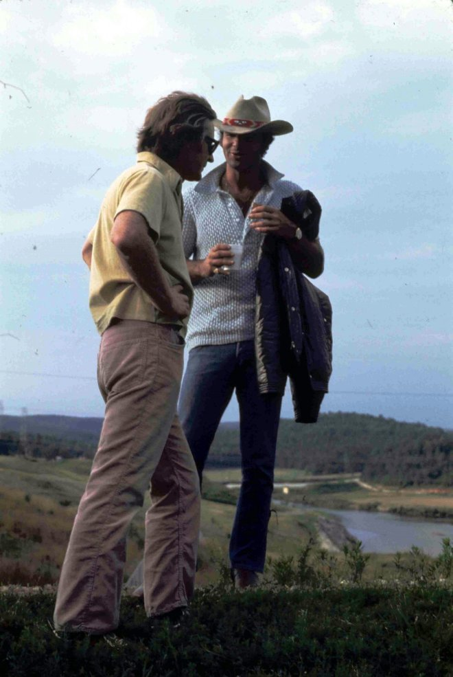 21_Director John Boorman and Burt Reynolds on location during the making of Deliverance..jpg