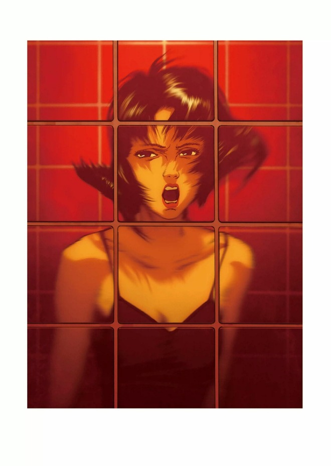 Rare promotional art work for the film Perfect Blue, illustrated by director Satoshi Kon,featured in the art book Kon_s Works 1982-2010-3