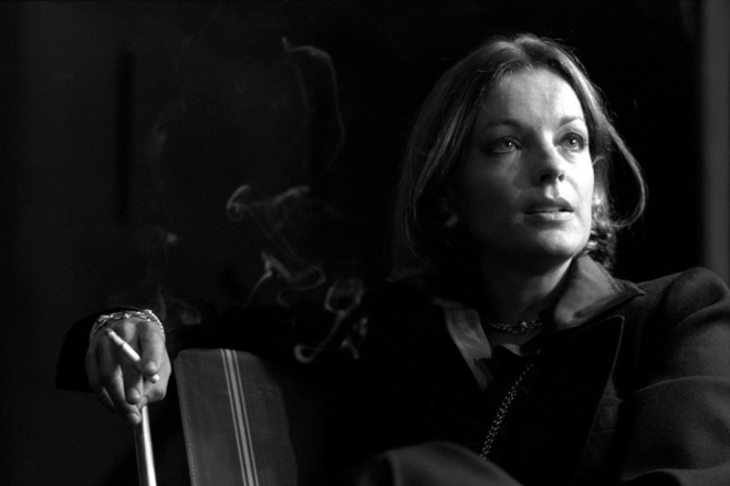 11_Romy Schneider during the filming of L'important c'est d'aimer by Andrzej Zulawski in 1974. Photos by Jean Gaumy.-1