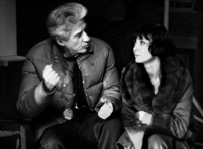 22_Resnais with a wonderful Sabine Azema on the set of Mélo, 1986..jpg