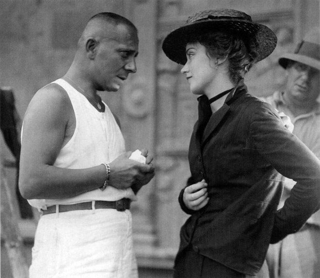 28_Erich Von Stroheim and Fay Wray on the set of The Wedding March directed by Erich Von Stroheim, 1928..jpg