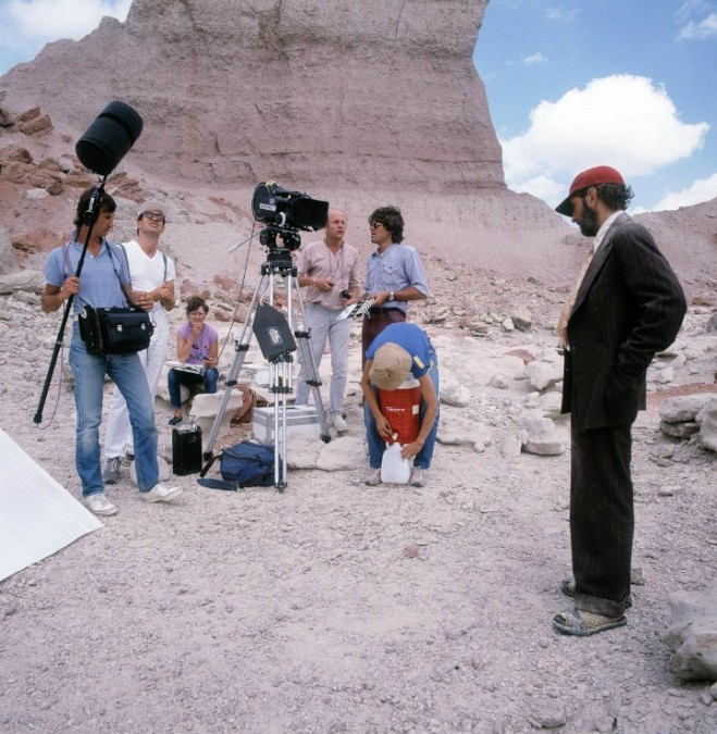 29_Harry Dean Stanton on the set of Paris, Texas directed by Wim Wenders, 1984. Photo by Robin Holland.jpg