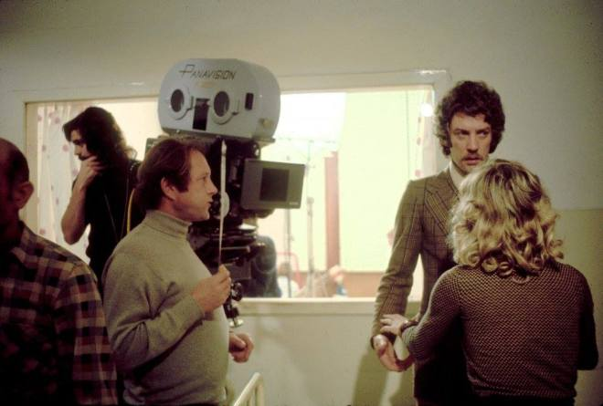 31_Donald Sutherland, Julie Christie and Nicolas Roeg on the set of Don't Look Now, 1973..jpg