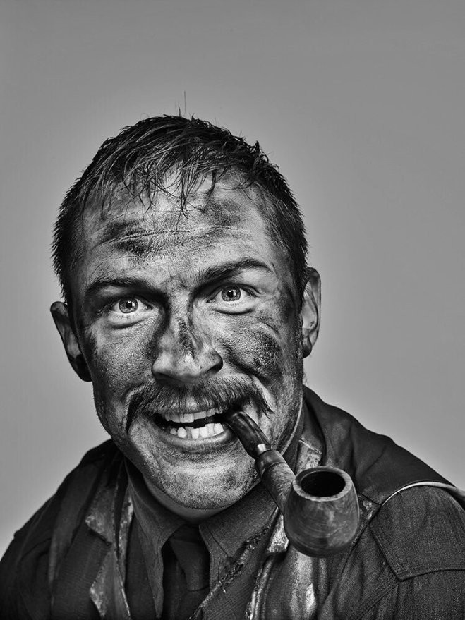 Tom Hardy in makeup as Daniel Day Lewis as Daniel Plainview in 'There Will Be Blood_, photographed by Chris Floyd-2