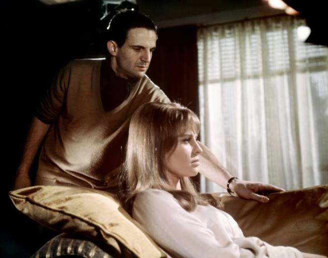 13_Director François Truffaut and Julie Christie on the set of Fahrenheit 451, 1966..jpg