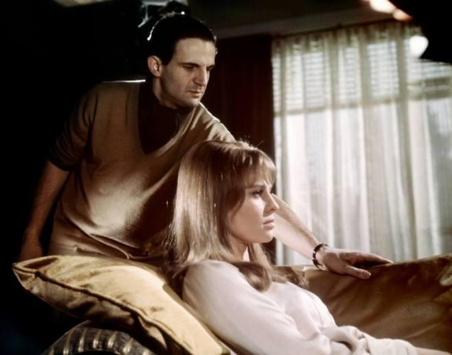 13_Director François Truffaut and Julie Christie on the set of Fahrenheit 451, 1966..jpg