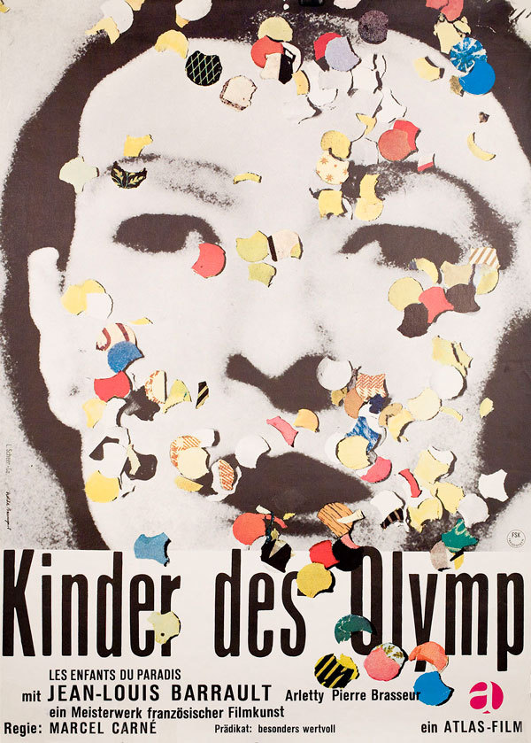 25_Children of Paradise (1945). German poster for the 1966 re-release by Isolde Monson-Baumgart..jpg