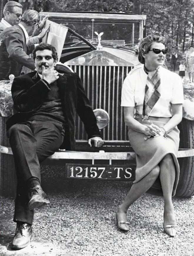 26_Ingrid Bergman & Omar Sharif on the set of The Yellow Rolls-Royce 1964..jpg