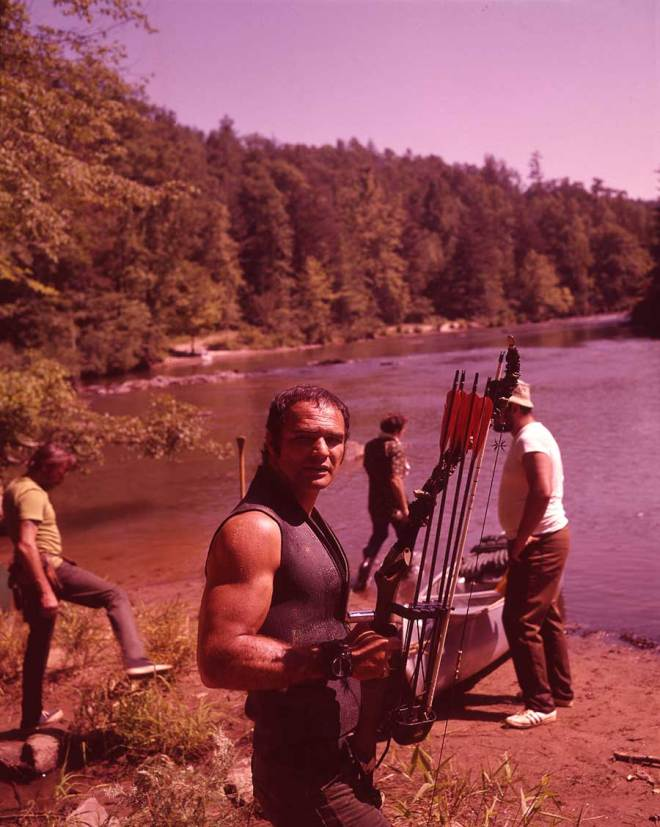3_Burt Reynolds on the set of Deliverance..jpg