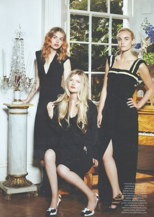 Hannah Murray,Joanna Vanderham (The runaway with JOC) and Sophie Kennedy Clark in Instyle Uk November 2013.-3