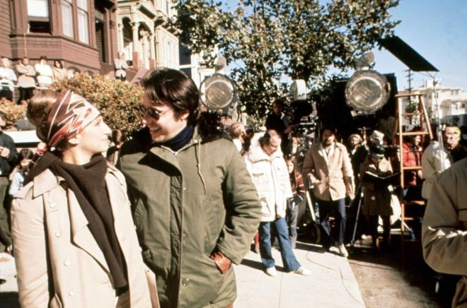 16_Barbra Streisand and Peter Bogdanovich, break in filming on the set of What's Up, Doc?, 1972..jpg
