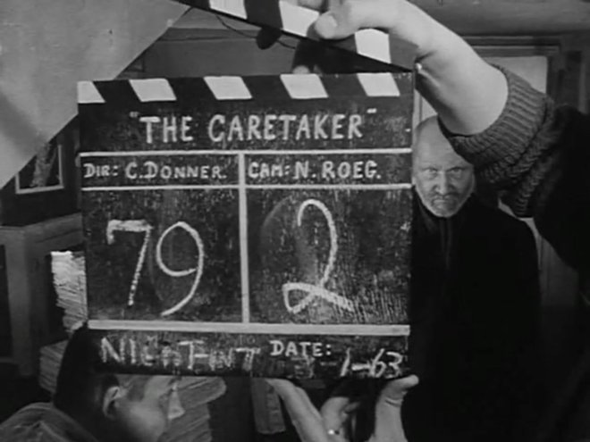 8_Robert Shaw and Donald Pleasance on the set of 'The Caretaker', London, January 1963..jpg