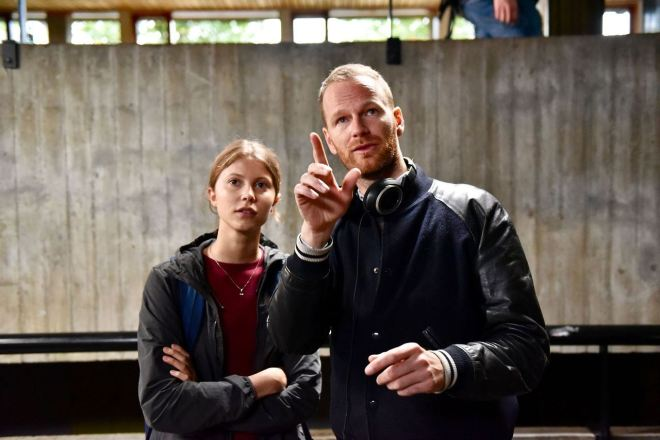 Joachim Trier and Eili Harboe, On the set of Thelma-2