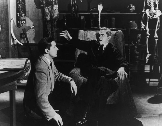 14_Director Ed Wood Jr and Bela Lugosi on the set of Glen or Glenda.jpg