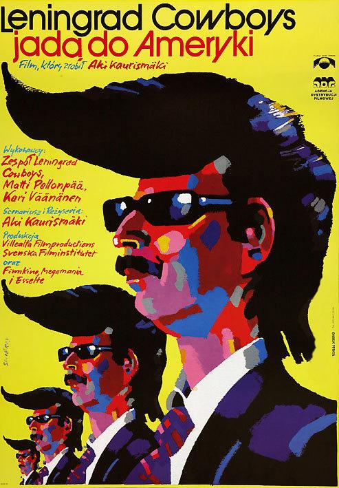19_Leningrad Cowboys Go America (1989). Polish poster by Waldemar Swierzy..jpg
