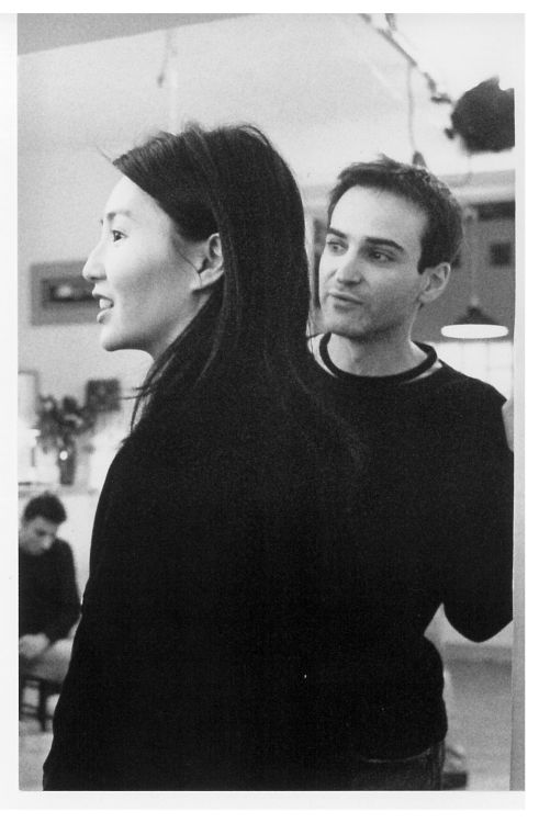 6_Maggie Cheung and Olivier Assayas on the set of Irma Vep (1996)..jpg