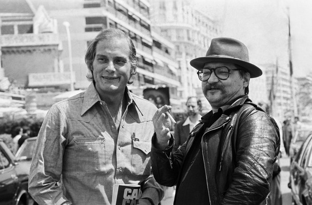 7_Barbet Schroeder and Rainer Werner Fassbinder at the 1979 Cannes Film Festival.jpg