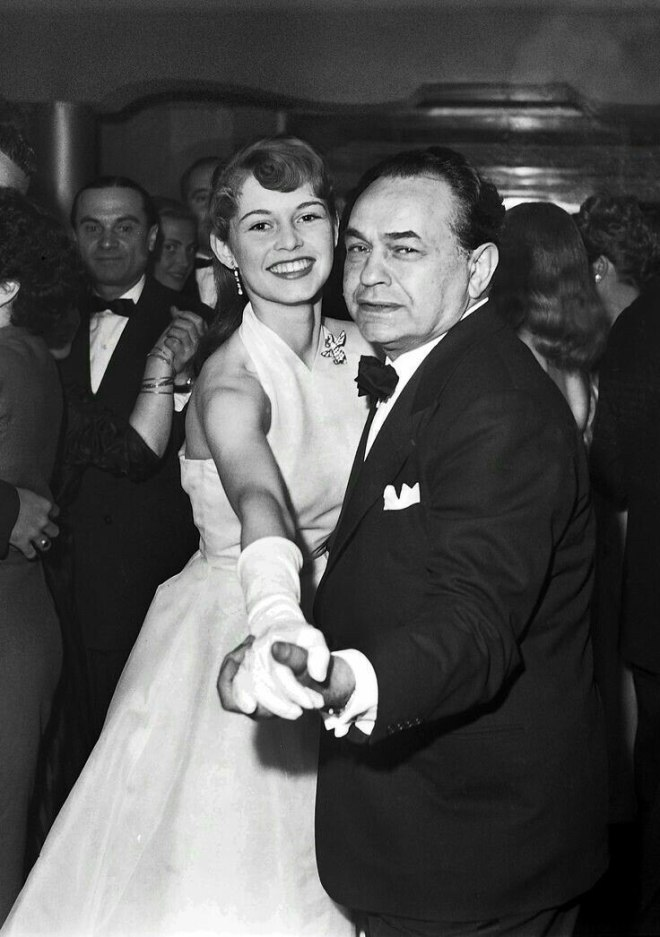 Brigitte Bardot & Edward G. Robinson at the Cannes Film Festival (1953).jpg