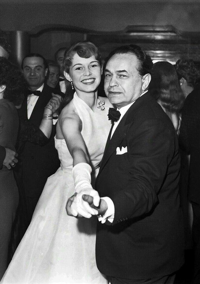 Brigitte Bardot & Edward G. Robinson at the Cannes Film Festival (1953).jpg