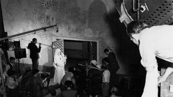 on the set of Black Narcissus (1947) Directed by Michael Powell and Emeric Pressburger -2