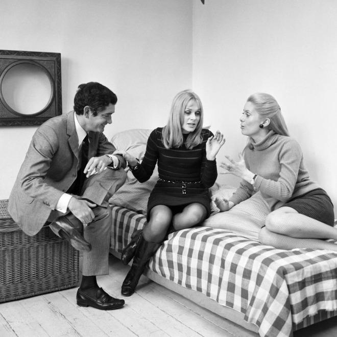 14_Jacques Demy, Françoise Dorléac and Catherine Deneuve by Bernard Allemane, 1967..jpg
