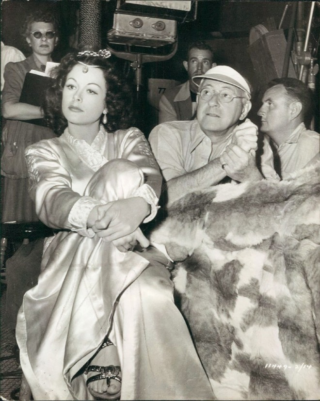 19_Hedy Lamarr and Director Cecil B. DeMille on the set of Samson and Delilah..jpg